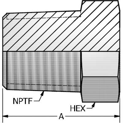 "Hydraulic NPT Pipe Plug 5406-P-12 3//4/"" Hex Pipe Plug 5406P-12"